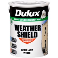 Dulux Weathershield Masonry Brilliant White Paint - 5 Litre