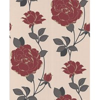 Graham & Brown SuperFresco Colours Rosey Wallpaper - Red