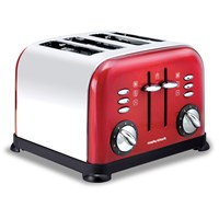 Morphy Richards  4 Slice Toaster - Red