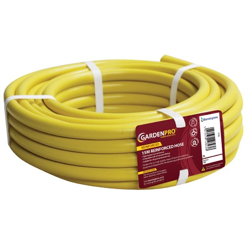 Kingfisher  Gold 15m Yellow Reinforced Garden Hose