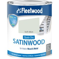 Fleetwood Quick Dry Satinwood Colours Paint - 750ml