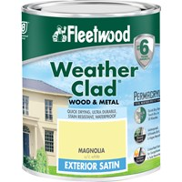 Fleetwood Weather Clad Exterior Satin Magnolia Paint - 750ml