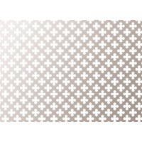Applications  Screening Panel Four Leaf Clover Pattern - Aluminium