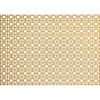 Applications  Screening Panel Geometric Pattern - Brass