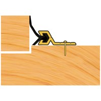 Exitex  Flex 'n' Seal Gold Screw Fix Draught Excluder - 5.18m