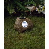 Premier Decorations  Small Solar Rock Light - White Light