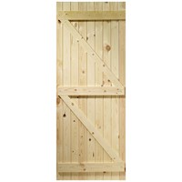 InDoors  Ledged & Braced Pine Door  - Unfinished