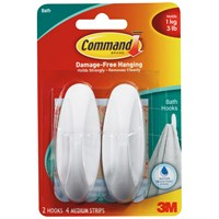 3M Command Bathroom Hook - Medium
