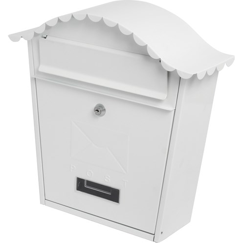 De Vielle  Traditional Post Box - White